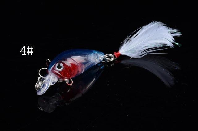 1 Pcs 4.5Cm/4.5G Wobble Fishing Lures Crankbait Bass Wobbler Tackle Hook For-ZGTN Fishing Store-4-Bargain Bait Box