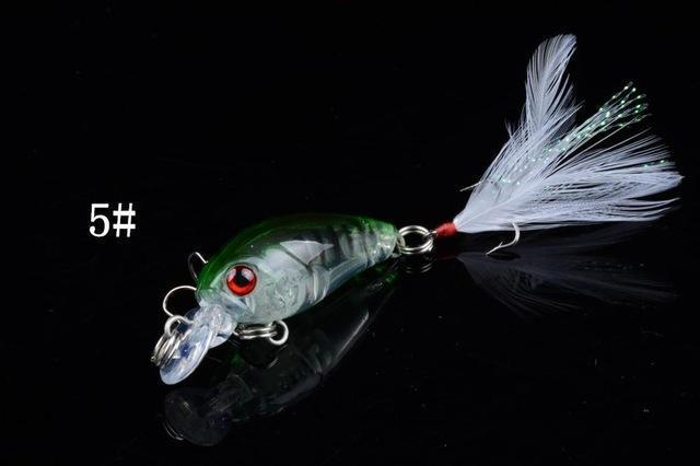 1 Pcs 4.5Cm/4.5G Wobble Fishing Lures Crankbait Bass Wobbler Tackle Hook For-ZGTN Fishing Store-5-Bargain Bait Box