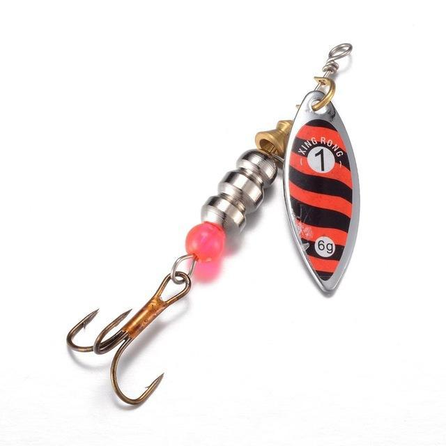 1 Pcs Fishing Spoon Hard Bait Mepps Lure Jig Tackle Spinner With -Edged Treble-Inline Spinners-Bargain Bait Box-7-Bargain Bait Box