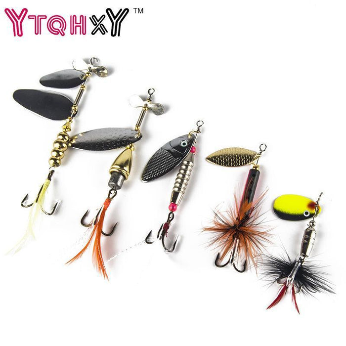1 Pcs Metal Spinner Fishing Bait Spoon 7G-20G Fishing Lure Silver/Gold Color-YTQHXY Fishing (china) Store-A-Bargain Bait Box