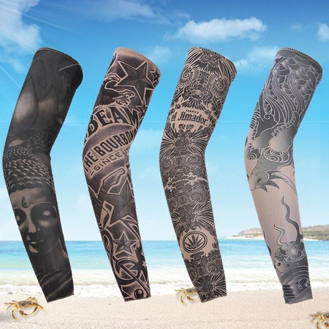 ca54002075679 1 Piece Arm Sleeve Sun Protection Breathable Tattoo Cuff Quick-Dry Running  Arm-Arm
