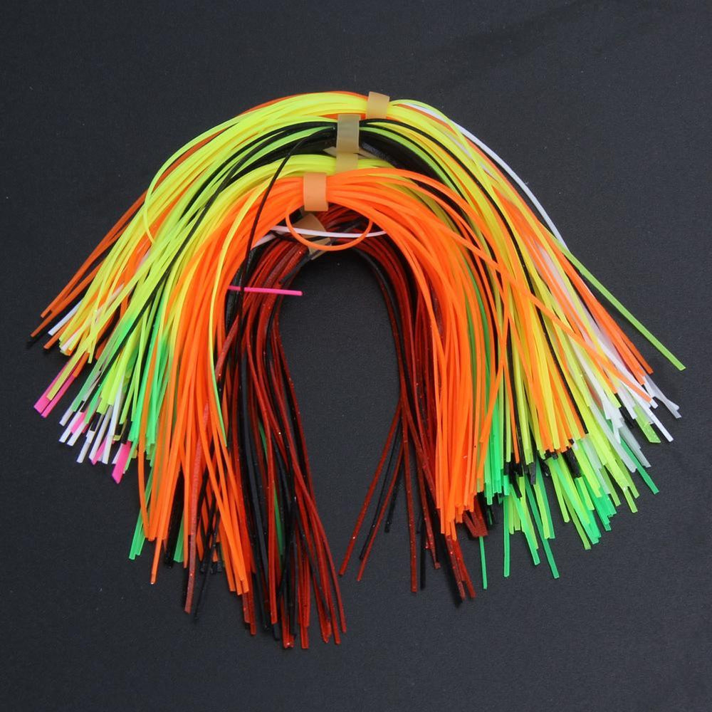 10 Bundles 30 Strands Silicone Skirts Diy Spinnerbatis Buzzbaits Rubber Jig Lure-Skirts & Beards-Bargain Bait Box-Bargain Bait Box