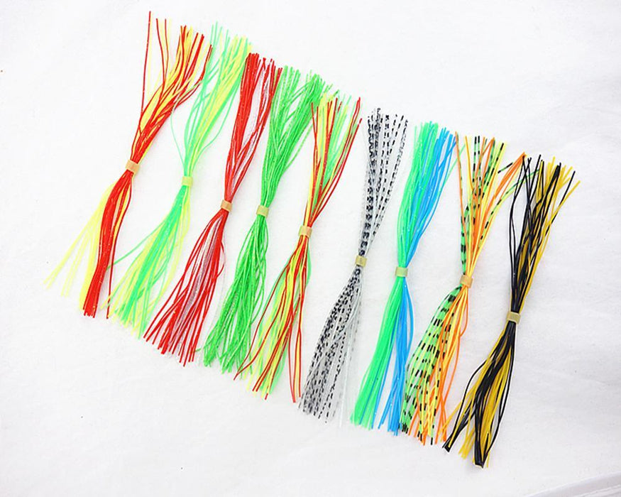10 Bundles Fly Tying Rubber Threads Skirts Silicone Straps For Flies Lures Beard-Skirts & Beards-Bargain Bait Box-Bargain Bait Box