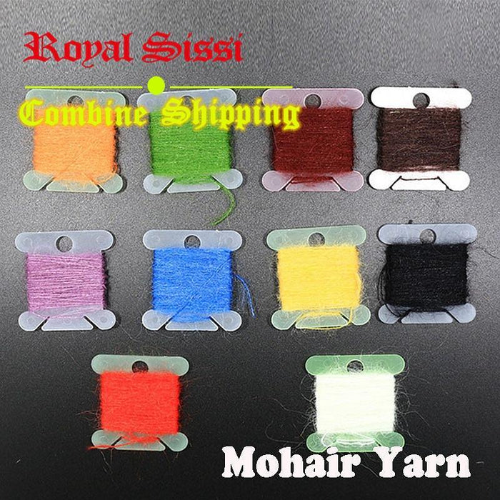 10 Colors/Lot Long Hairy Dubbing Line Yarn Fibers For Nymphal Bugs&Scud Sand-Royal Sissi Official Store-Bargain Bait Box