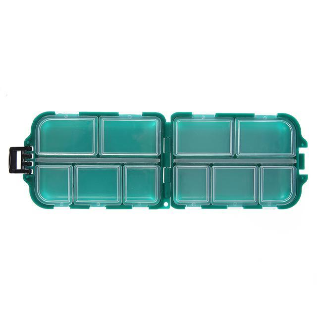 10 Compartments Storage Case Box Plastic Spoon Hook Bait Tackle Box Small Box-Compartment Boxes-Bargain Bait Box-Bargain Bait Box