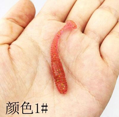 10 Pcs Wobbler Jigging Fishing Lure Fishhooks Soft Worm Shrimp 5Cm 1G Jerkbait-ZUOFILY fishing Store-1-Bargain Bait Box