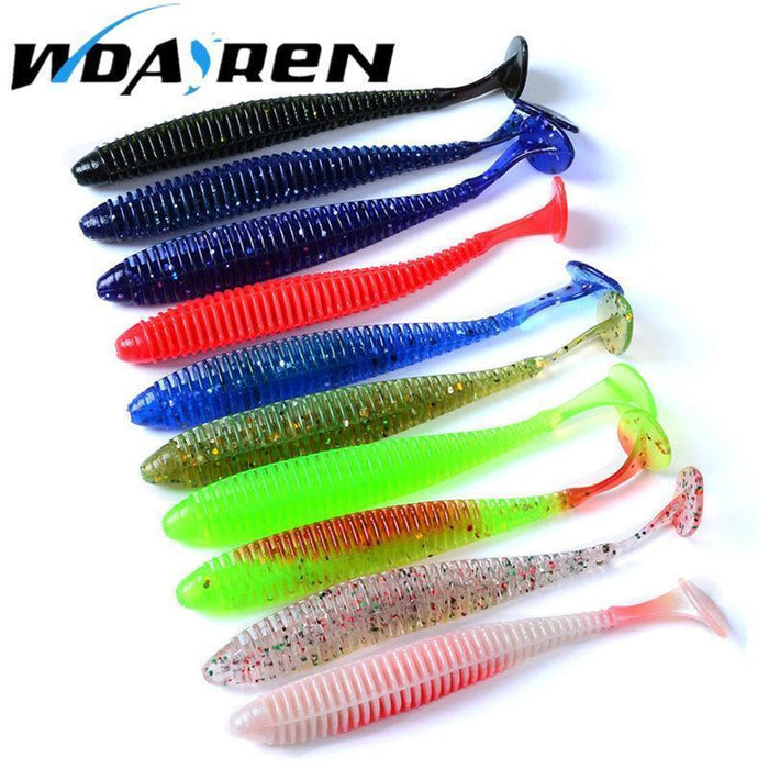 10 Pcs/Lot 2.4G 8.5Cm Soft Lure Japan Shad Worm Pesca Artificial Swimbaits Jig-WDAIREN KANNI Store-Bargain Bait Box