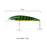 10 Pieces Fishing Bait 11 Cm/13.5G Fishing Lures Minnow Hard Bait Suspension-ilure Official Store-Bargain Bait Box