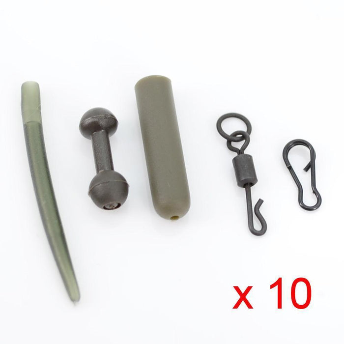 10 Set Carp Fishing Chod Rig Safety Sleeves Lead Clips Slide Heli Rigs-hirisi Official Store-Link M1-Bargain Bait Box