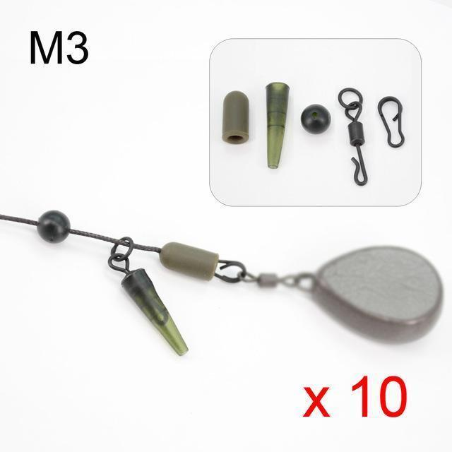 10 Set Carp Fishing Chod Rig Safety Sleeves Lead Clips Slide Heli Rigs-hirisi Official Store-Link M3-Bargain Bait Box