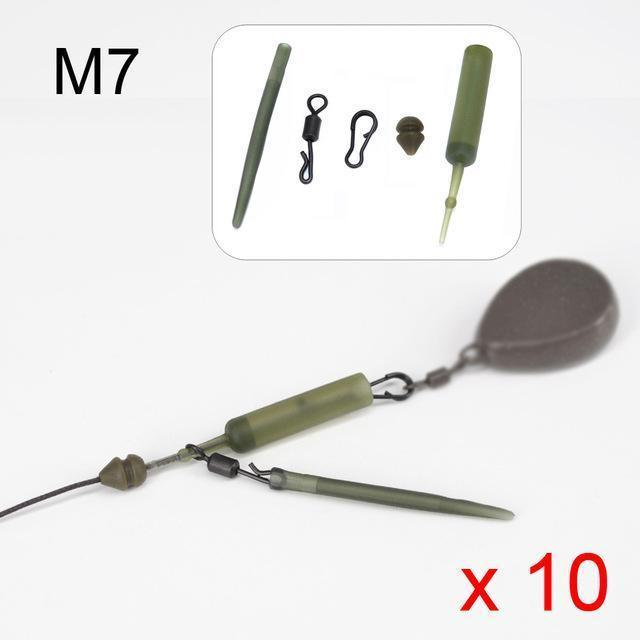 10 Set Carp Fishing Chod Rig Safety Sleeves Lead Clips Slide Heli Rigs-hirisi Official Store-Link M7-Bargain Bait Box