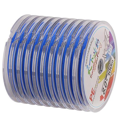 100-1000M Any Length 4 Braid Pe Fishing Line 4-38Kg Linha Pesca Multifilamento-SmartLure Store-Blue-0.8-Bargain Bait Box
