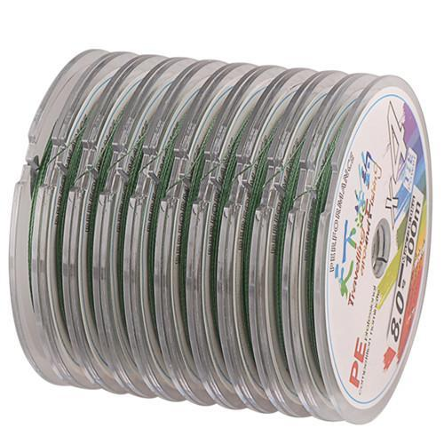 100-1000M Any Length 4 Braid Pe Fishing Line 4-38Kg Linha Pesca Multifilamento-SmartLure Store-Green-0.8-Bargain Bait Box