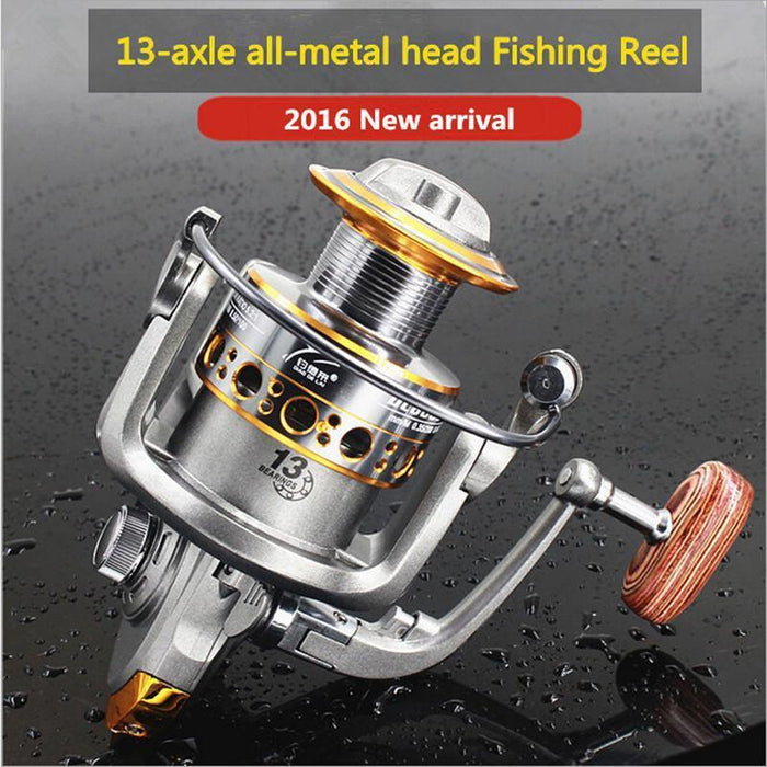 100% Origina Fddl Brand 13 Axis 1000-7000 Series Full Metal Spinning Fishing-Spinning Reels-DAWO Trading Co., Ltd. Store-Silver-1000 Series-Bargain Bait Box