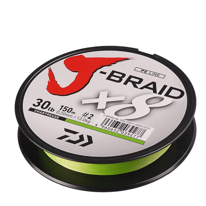 100% Original Daiwa J-Braid 8A 150M 8 Braided Fishing Line 20/25/30Lb Green-Luremaster Fishing Tackle-1.2-Bargain Bait Box