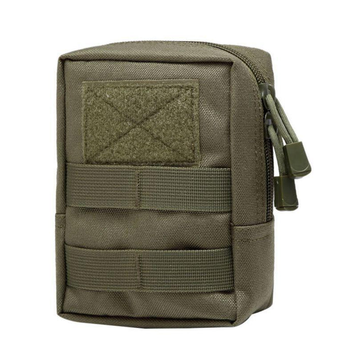1000D Military Tactical Waist Bag Edc Molle Tool Zipper Waist Pack Durable-Bags-Bargain Bait Box-Green Color-Bargain Bait Box
