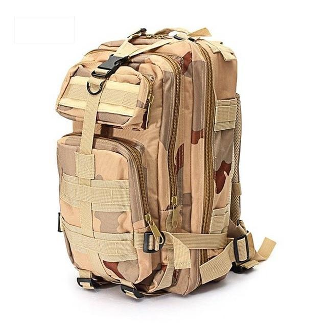 1000D Nylon Tactical Military Backpack Waterproof Army Bag Outdoor Sports-Climbing Bags-Lu Fitness Store-khaki-30 - 40L-China-Bargain Bait Box