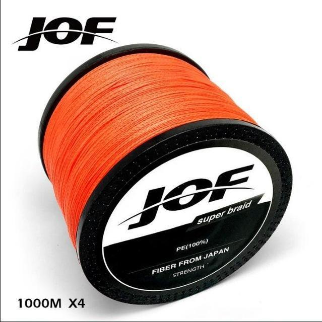 1000M 4 Strands Pe Braided Wire Muliti Colors Multifilament Fishing Line-liang1 Store-Orange-0.4-Bargain Bait Box
