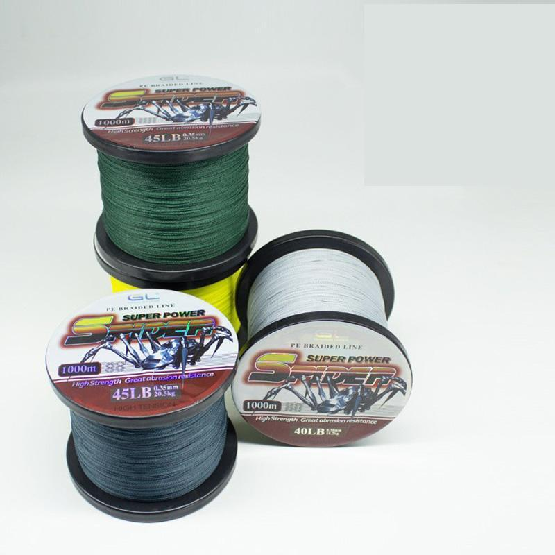 1000M Braided Fishing Line Super Power Pe Fiber Line 4 Strands Multifilament-Kookaburra Store-size1-0.6-Bargain Bait Box