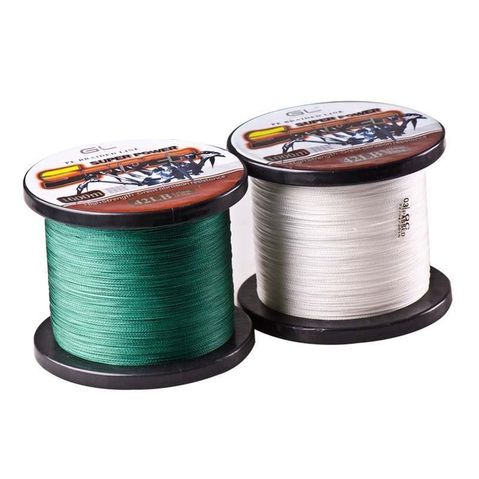 1000M Super Power Multifilament 4 Strands Pe Braided Fishing Line 12-80Lb Spider-Bassking Fishing Tackle Co,Ltd Store-White-0.4-Bargain Bait Box