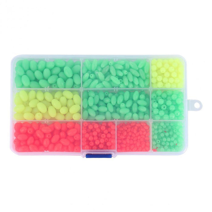 1000Pcs/Box Plastic Glow Fishing Beads Roundl Luminous Floating Plastic Tackle-Fishing Beads-Bargain Bait Box-Bargain Bait Box