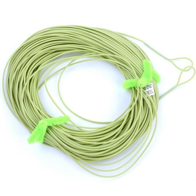 100Ft Weight Forward Floating Fly Line Material De 2 Welded Loops Line-Fly Fishing Lines & Backing-Bargain Bait Box-Light Green-2.0-Mainline-Bargain Bait Box