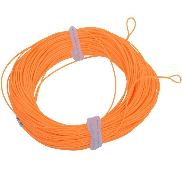 100Ft Weight Forward Floating Fly Line Material De 2 Welded Loops Line-Fly Fishing Lines & Backing-Bargain Bait Box-Orange-2.0-Mainline-Bargain Bait Box
