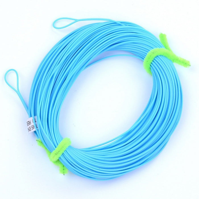 100Ft Weight Forward Floating Fly Line Material De 2 Welded Loops Line-Fly Fishing Lines & Backing-Bargain Bait Box-Sky Blue-2.0-Mainline-Bargain Bait Box