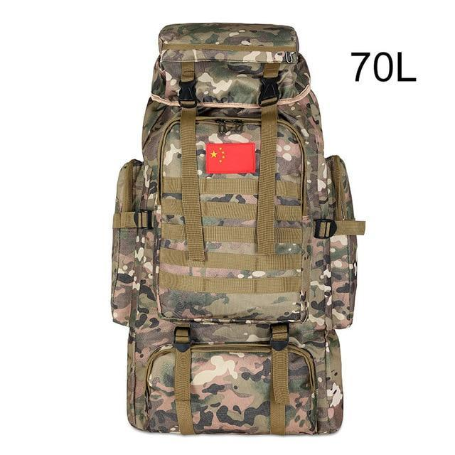 100L Military Backpack Molle Camping Bag Rucksack Tactical Backpack Men Large-Climbing Bags-Vanchic Outdoor Store-CP camouflage 70L-Bargain Bait Box