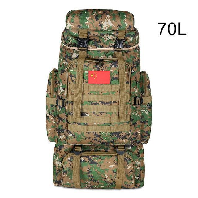 100L Military Backpack Molle Camping Bag Rucksack Tactical Backpack Men Large-Climbing Bags-Vanchic Outdoor Store-Jungle 70L-Bargain Bait Box