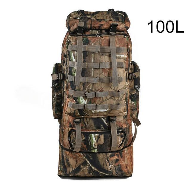 100L Military Backpack Molle Camping Bag Rucksack Tactical Backpack Men Large-Climbing Bags-Vanchic Outdoor Store-Jungle Brown 100L-Bargain Bait Box