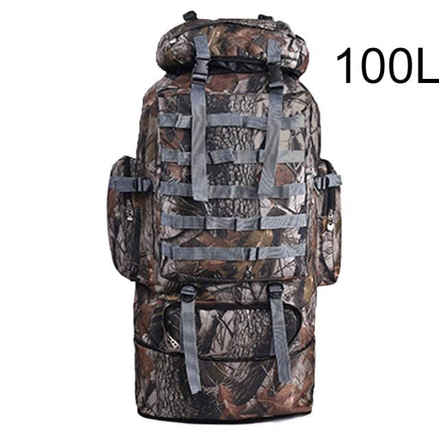 100L Military Backpack Molle Camping Bag Rucksack Tactical Backpack Men Large-Climbing Bags-Vanchic Outdoor Store-Jungle Grey 100L-Bargain Bait Box