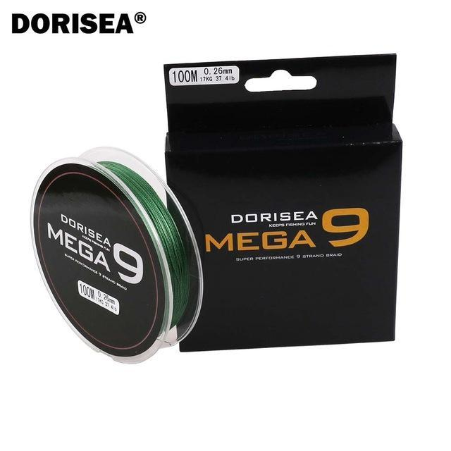 100M 109Yards 9 Strands Multifilament Pe Braided Fishing Line Fishing Braided-AGEPOCH Fishing Tackle Co., Ltd.-Army Green-0.8-Bargain Bait Box