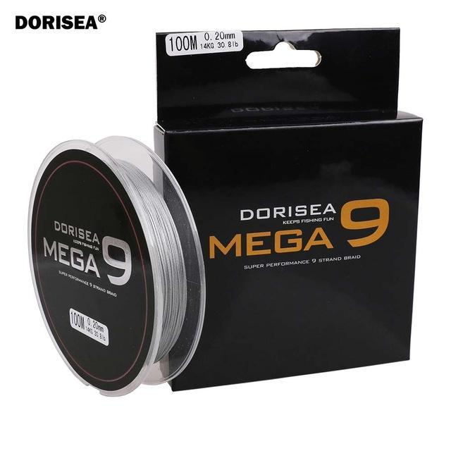 100M 109Yards 9 Strands Multifilament Pe Braided Fishing Line Fishing Braided-AGEPOCH Fishing Tackle Co., Ltd.-Dark Grey-0.8-Bargain Bait Box