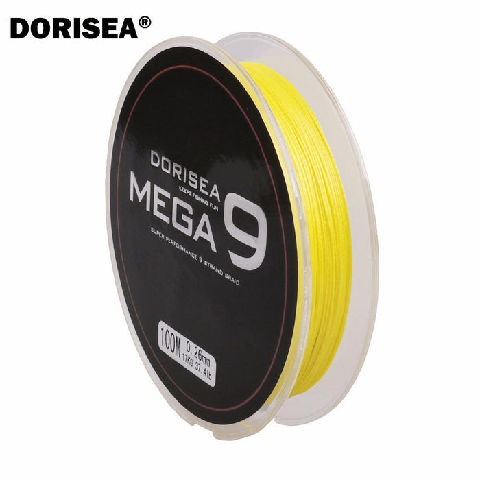 100M 109Yards 9 Strands Multifilament Pe Braided Fishing Line Fishing Braided-AGEPOCH Fishing Tackle Co., Ltd.-Yellow-0.8-Bargain Bait Box