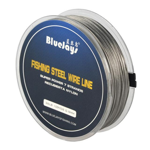 100M 1*7 Strands Stainless Steel Wire Fishing Line Wire Trace With Coating-LOTITONG Store-13lb 0.3mm 100 Meter-Bargain Bait Box