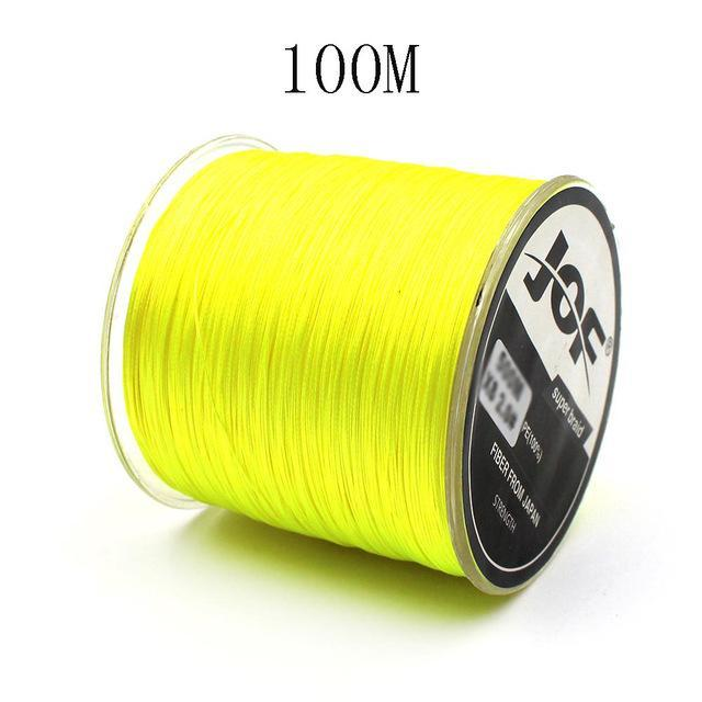 100M 8 Strands Pe Braided Fishing Line Super Strong Japan Multifilament-Enjoying Your Life Store-100m yellow-2.0-Bargain Bait Box