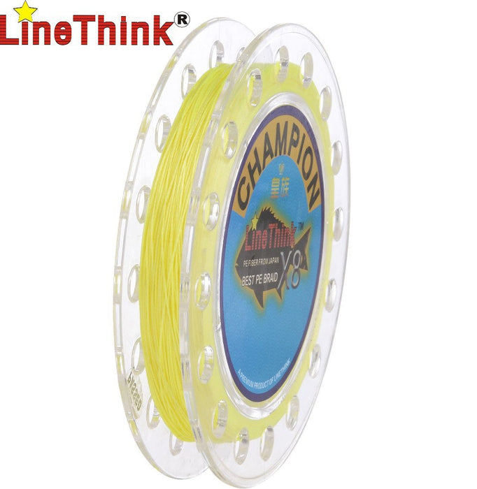 100M Linethink Brand Ghampion 8Strands/8Weave Best Quality Multifilament Pe-LINETHINK official store-White-1.0-Bargain Bait Box