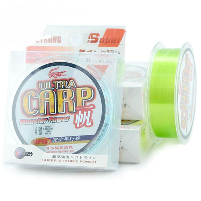 100M Nylon Fishing Line From Japan Super Strong Monofilament Carp Imported-Sequoia Outdoor (China) Co., Ltd-White-0.4-Bargain Bait Box