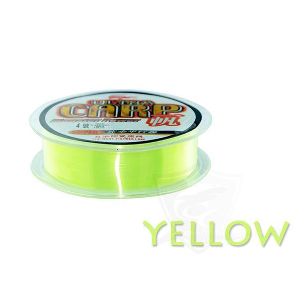 100M Nylon Fishing Line From Japan Super Strong Monofilament Carp Imported-Sequoia Outdoor (China) Co., Ltd-Yellow-0.4-Bargain Bait Box