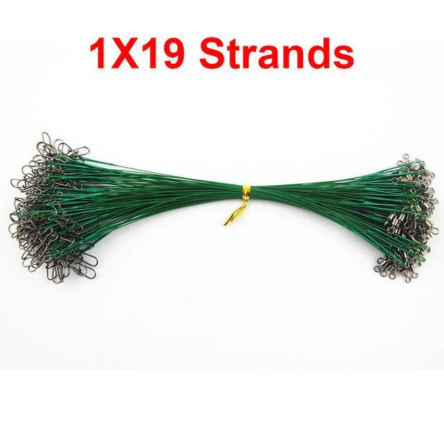 100Pcs 25Cm Nylon Coated Fishing Wire Leader Stainless Steel Braided Trace-Easycatch-fishing tackle Store-1X19 Strands-Bargain Bait Box