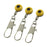 100Pcs Fishing Barrel Swivel Interlock Snap Solid Ring Pin Connector Accessories-Sexy bus-Yellow Medium-Bargain Bait Box