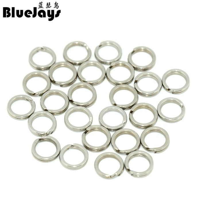 100Pcs Fishing Split Rings For Blank Lure Hard Bait 6.5-10Mm Rig Rings Lure-Fishing Split Rings-Bargain Bait Box-Purple-Bargain Bait Box