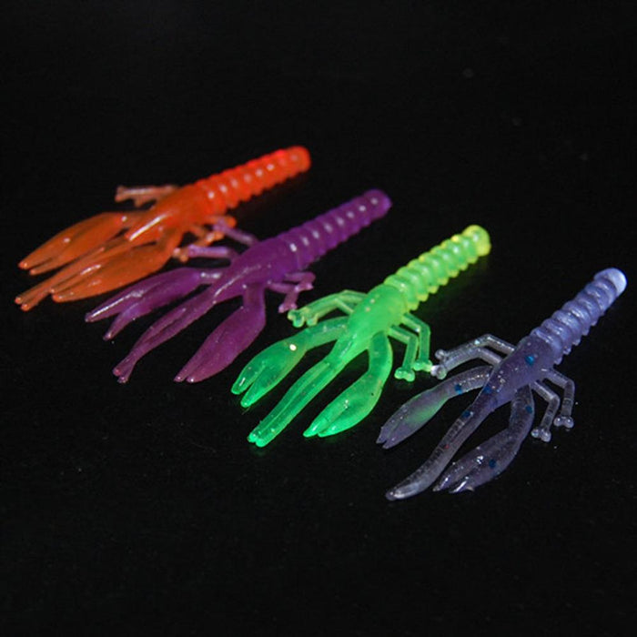 100Pcs Soft Fishing Rubber Shrimp Bait Bass-Craws-Bargain Bait Box-Bargain Bait Box