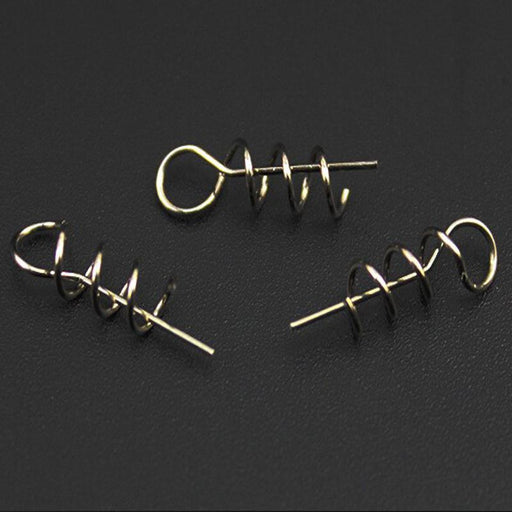 100Pcs Soft Loader/ Twistlock/Centering-Pin S/Locker Connector Fishing Worm Hook-Bait RIgs-Bargain Bait Box-Bargain Bait Box