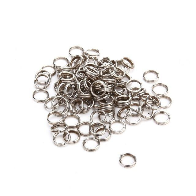 100Pcs/Lot 4Mm 5Mm 7Mm Split Rings For Blank Lures Crank Bait Hard Tools-Fishing Split Rings-Bargain Bait Box-08x7mm-Bargain Bait Box