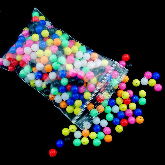 100Pcs/Lot 6Mm /8Mm Fishing Plastic Large Fishing Beads Fishing Gear Fishing-Fishing Beads-Bargain Bait Box-8mm-Bargain Bait Box