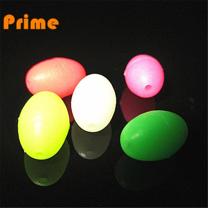 100Pcs/Lot 7*10 8*12 Fishing Plastic Hard Oval Luminous Beads Fly Sabiki Snapper-Fishing Beads-Bargain Bait Box-7x10 Red-Bargain Bait Box