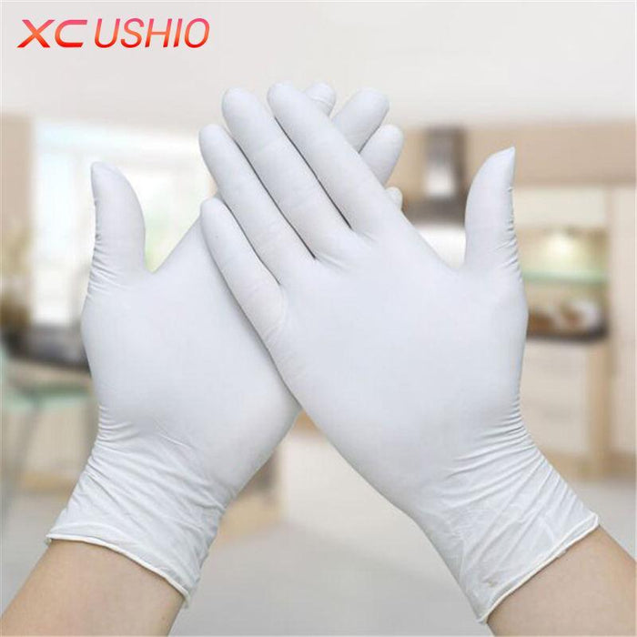 100Pcs/Lot Disposable Latex Gloves Universal Cleaning Gloves Home Food Medical-Gloves-Bargain Bait Box-White-XS-Bargain Bait Box