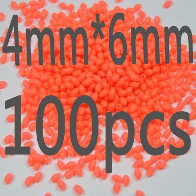 100Pcs/Lot More Models Premium Green And Orange Color Oval Soft Luminous Beads-Fishing Beads-Bargain Bait Box-4 6-Bargain Bait Box